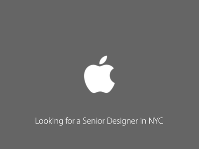Looking for a Senior Designer