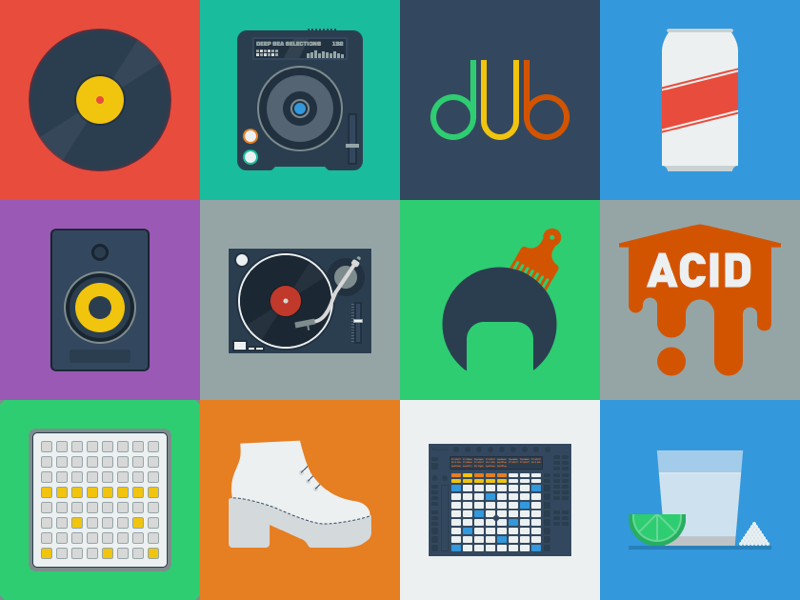100 Days of Disco speaker ableton afro cdj monome tequila nightlife pattern record the100dayproject pioneer pbr