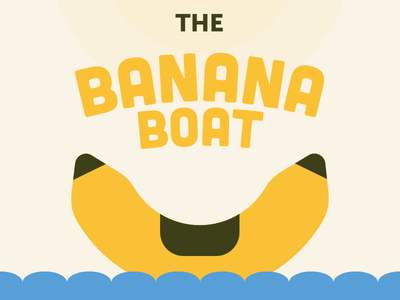 The Banana Boat cubano water boat banana