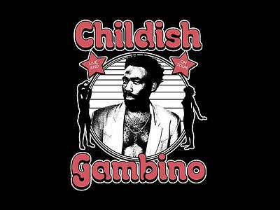 Childish Gambino - LIVE AND ON TOUR childish gambino tour merch tour bootleg rap hip-hop band merch merchandise design merchandising merch design merch