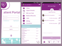 Paitient Portal Login and Live Chat - first concept