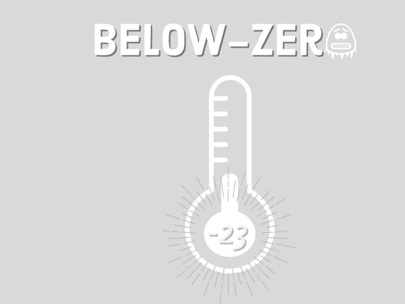Below-Zero degrees design adobe ai sketch idea concepts branding ux logo freezing inspiration temperature