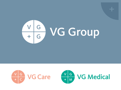 VG Group circle cross medicine symbol mark illustrator emblem logotype logo identity branding