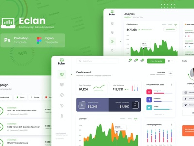 Eclan Ads Campaign Admin Dashboard UI Template ads design ads campaign ads website app design app ux ui uxui uxdesign ux design ux user interface designer user interface ui user interface design user interface ui ux uiux uidesign ui design ui
