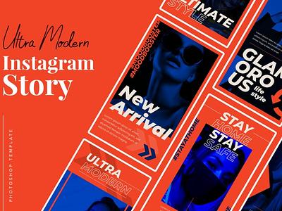 Ultra Modern Instagram Story instagram instagram template instagram stories instagram posts template social media social media template branading design instagram post instagram banner social media pack posts stories story instagram story template post modern blog blogger