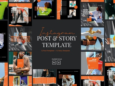 Urban Style Instagram Post and Story Template instagram instagram template instagram stories instagram posts template social media social media template branading design instagram post instagram banner social media pack posts stories story instagram story template post modern blog blogger