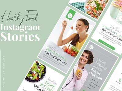 Healthy Food Instagram Templates instagram instagram template instagram stories instagram posts template social media social media template branding design instagram post instagram banner instagram templates instagram story template instagram post template stories story templates advertising color healthy