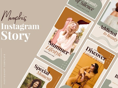 Memphis Instagram Templates instagram instagram template instagram stories instagram posts template social media social media template branding design instagram post instagram banner instagram templates instagram story template instagram post template stories story templates advertising color memphis