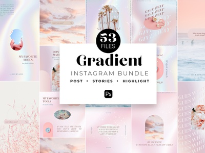 Gradient Instagram PSD Templates social media template branding design instagram post instagram banner instagram templates instagram story template instagram post template stories story templates advertising color aesthetics aesthetic gradient design gradient color gradient logo gradients gradient