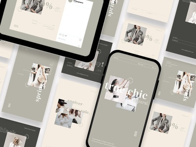 Fashion Sale Instagram Template fashion instagram instagram template instagram stories instagram posts template social media social media template branding design instagram post instagram banner instagram templates instagram story template instagram post template stories story templates advertising color