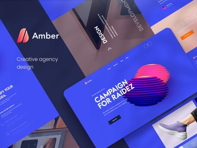 Amber - Creative Agency PSD Template app ux ui uxui uxdesign ux design ux user interface designer user interface ui user interface design user interface ui ux uiux uidesign ui design ui agency logo agency landing page agency branding agency website agency