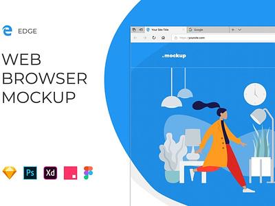 Edge Browser Window – Website Mockup ui ux ui design ux design dashboard 3d illustration illustration isometric card blur gradient clean minimal timeline web web app app ui kit design 3d