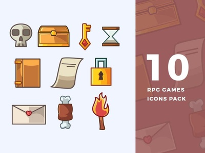 10 RPG Games Icons Pack game icons game icon game rpg game rpg vector branding logo design illustration icon illustration 3d icons design 3d icon design 3d icons 3d icon 3d icons design icon design icons icon
