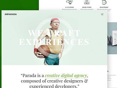Parada | Creative Agency Template design ui design ux ux design ui app website web development web design works web slider portfolio jquery html digital developer creative contact agency