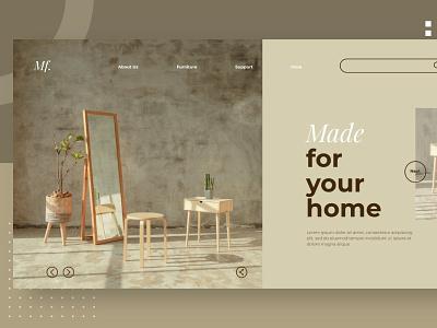 Furniture Hero Header PSD / XD blog donation rescue events clean full portofolio onepage purpose multipurpose illustration website design ui design ux ux design ui app html furniture