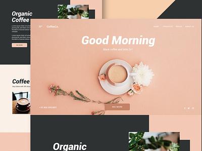 Coffee Shop - Website rescue events clean full purpose multipurpose onepage portolio design ui design motion graphics graphic design ux ux design ui app web website shop coffeshop