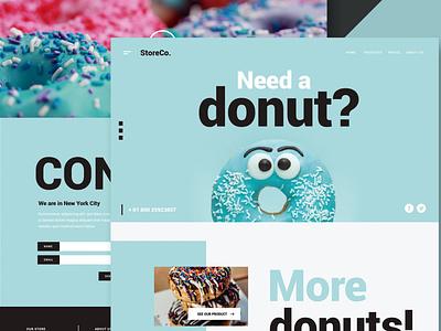 Restaurant & Food - Website shop store business events donation blog portfolio agency landing onepage design ui design ux ux design ui app html web website food
