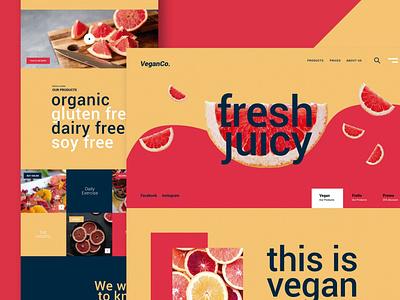 Fresh Food - Website diet vegan juice restaurant agency blog portfolio onepage shop landing graphic design website design ui design ux ux design ui app html web