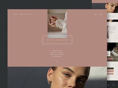 Fashion & Urban Shop - Website agency portfolio donation events blog landing page onepage web website design ui design ux ux design ui app html landing shop urban fashion