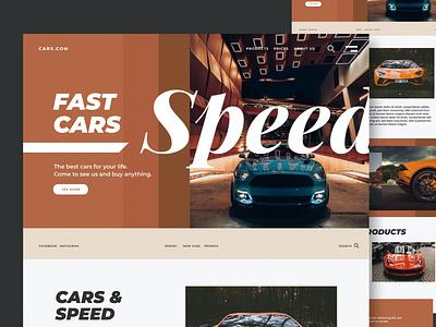 Cars & Speed - Website landing landing page creative blog agency purpose multipurpose shop portfolio logo illustration website design ui design ux ux design ui app html web