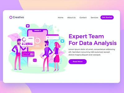Data Analysis shop blog html web website design ui design ux ux design ui app expert data analysis expert data landing landing page services team data expert analysis data