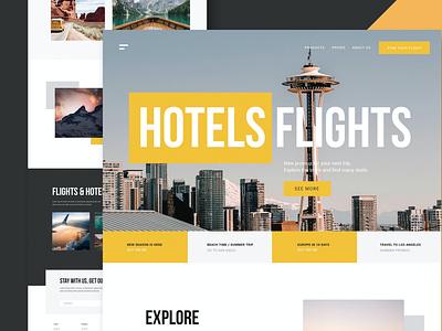 Travel Agency - Website travel flights hotels freelancer job html web page landing page landing illustration website design ui design ux ux design ui app agency travel agency travel