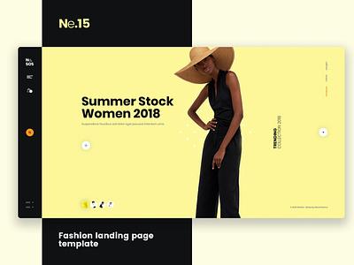 Ne15 - Fashion landing page template html web fashion show designer freelancer branding logo illustration website design ui design ux ux design ui app template fashion landing page landing