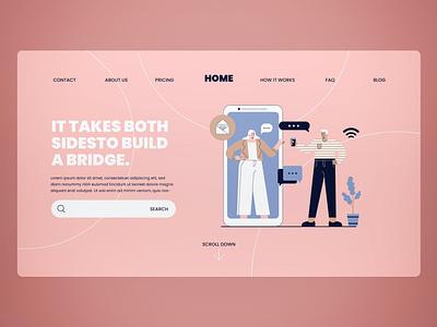 Teamwork Landing Page illustration website design ui design ux ux design ui app web shop web blog donation events shop html page landing page landing teamwork team work