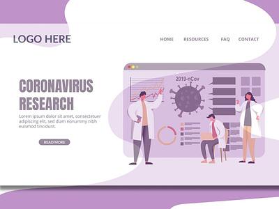 Virus Research - Landing Page web shop blog shop purpose branding illustration website design ui design ux ux design ui app landing page landing page html multipurpose corona virus