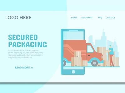 Cargo Delivery - Landing Page logo illustration website design ui design ux ux design ui app blog events shop purpose multipurpose html web page landing page landing delivery