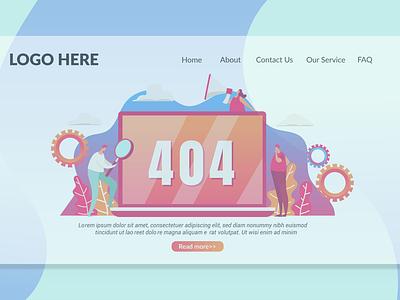 404 Not Found Page - Landing Page shop blog report annual annual report purpose multipurpose branding illustration website design ui design ux ux design ui app not found page landing landing page not found