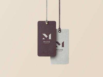 Miche Fashion typography lettering letter flat minimal fashion clothing logo design brand design identity logo brand branding design
