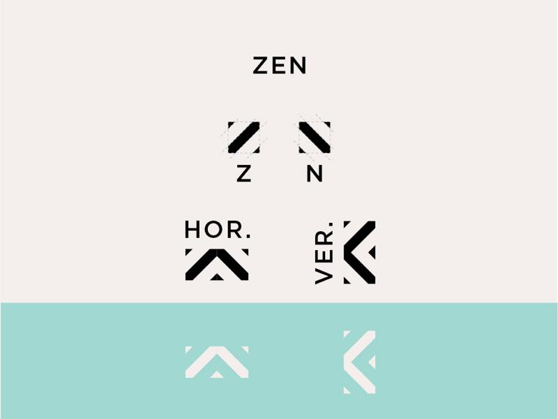 ZEN inspiration rebrand health young custom typography letter minimal simple flat identity zen mark branding brand logo