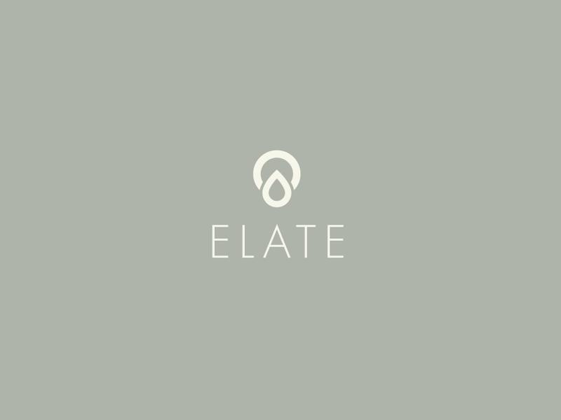 Elate CBD cbd minimal icon graphic design identity brand design logo