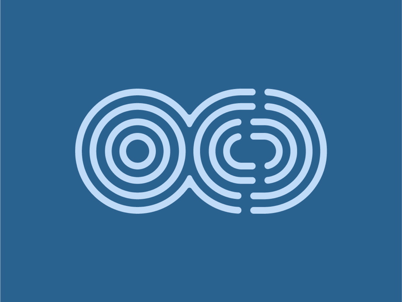 OCD lines ocd logo type lettering letter icon