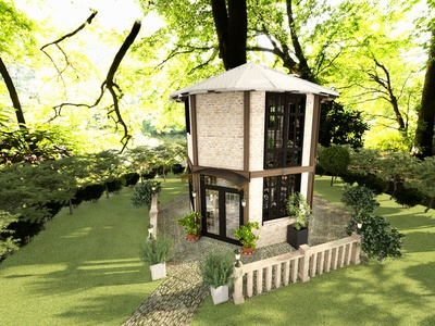 Tiny House Exterior Design architecture design tiny house sustainable edesign 3d rendering 3d modeling