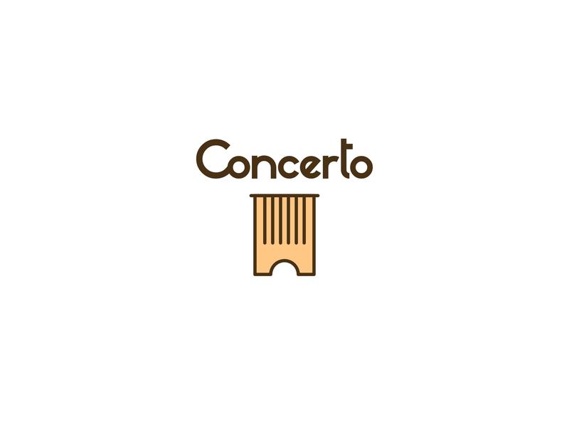 Concert ticket service design logocore logo challenge logo