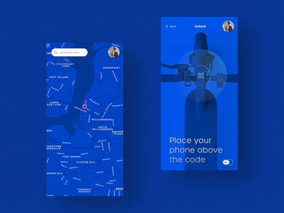 E Scooter: Future Mobility – UI Concept