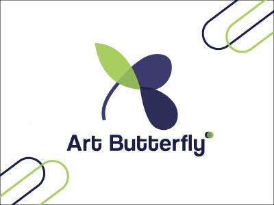 Art Butterfly Logo Design icon design logo designer logo design branding logodesign logo mark logotype logo