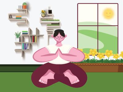 Yoga Girl design vector branding illustration