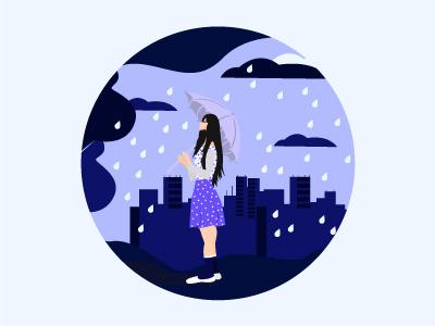 Rain Girl illustration vector Design digitalartist digitalartwork digitalart illustration digital illustration design illustration art vectors vectorart vector illustration vector illustration design
