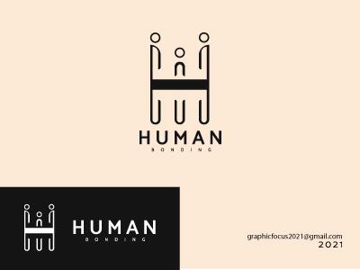 Human Bonding logo Design monogram identity branding designinspiration logomake identity jasadesainlogo logokeren vector brandidentity customlogo branding illustration logo designer icon logotype logo mark logo design branding design logodesign logo