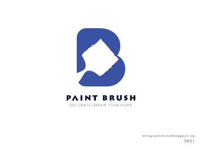 Paint Brush Logo Design identity typography designinspiration businesslogos monogram vector illustration design logodesign logo designer logo mark logo design branding brandidentity logos icon logotype branding logo