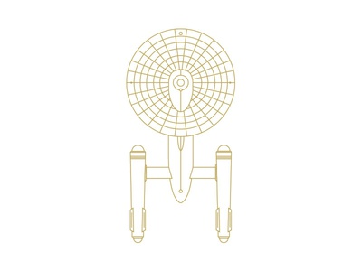 USS Enterprise star trek enterprise lineart