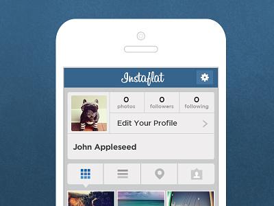 Instagram Flat Redesign instagram flat design ui