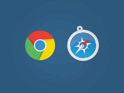 Flat Icons icon flat design chrome safari browser