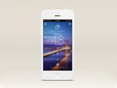 iOS7 Weather app ui utility