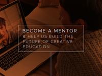 Become a design mentor.