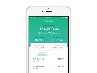 Earnest for iOS finance screenshot earnest ios