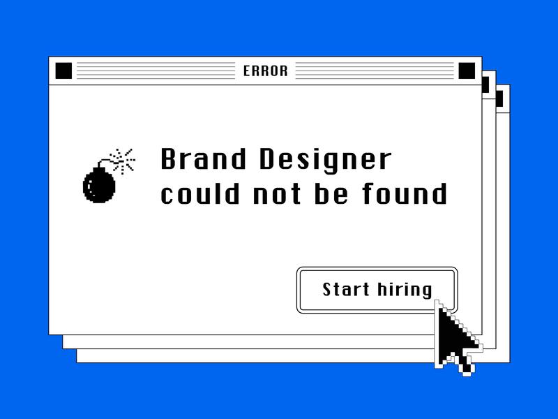 We're hiring! designer brand hiring communications bird message sms messagebird